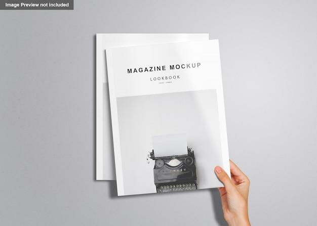 Us letter magazine mockup Premium Psd
