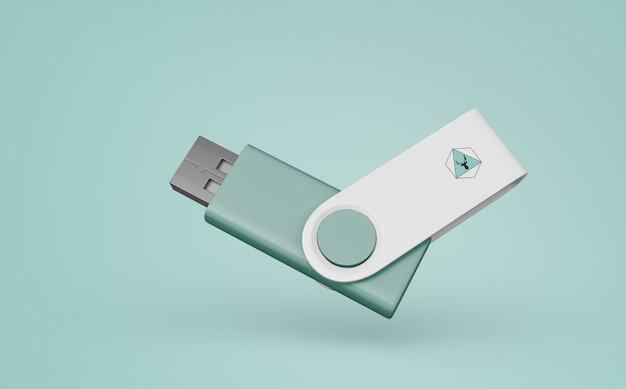 머천다이징 용 usb 스틱 모형 무료 PSD 파일