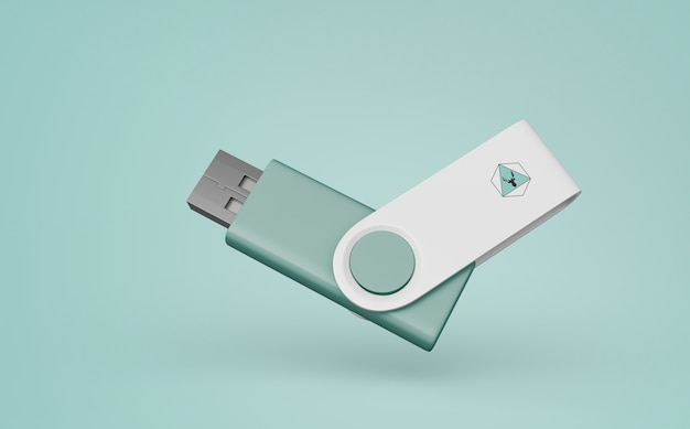 Usb stick mockup for merchandising Free Psd