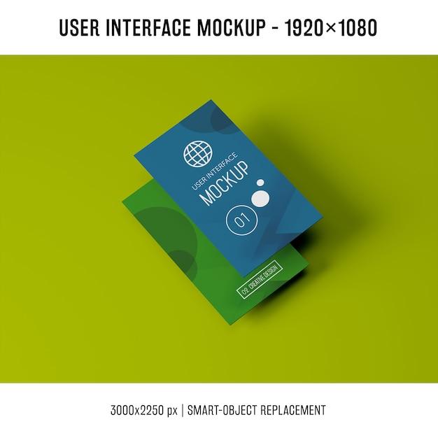 User interface mockup Free Psd