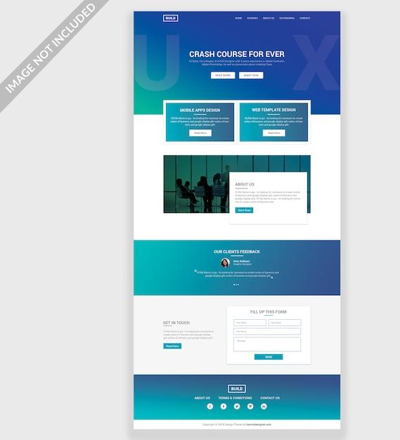 Ux Website Psd Template Design PSD File