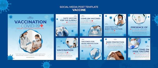 Vaccine social media post