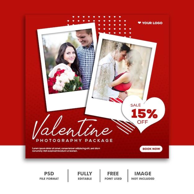Valentine banner social media post instagram Premium Psd