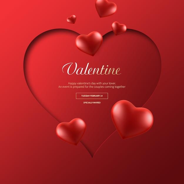 Valentine banner Premium Psd