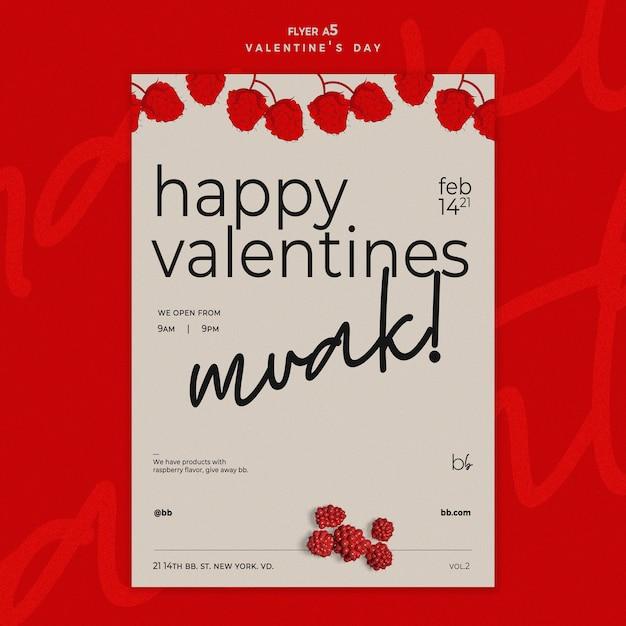 Modello di volantino di san valentino Psd Gratuite