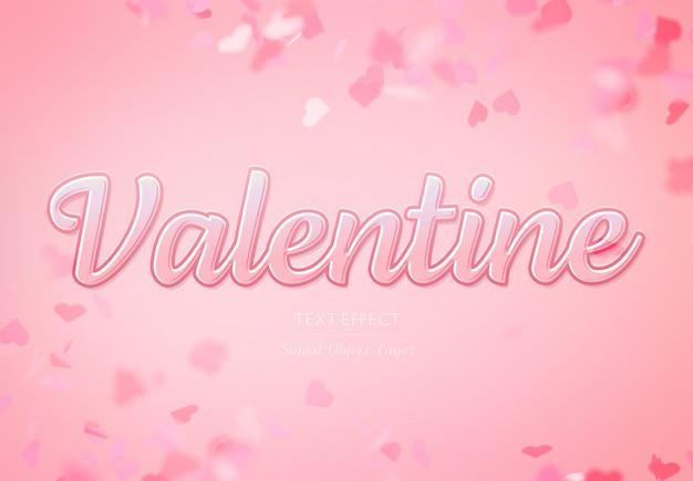 Valentine day text effect mockup Premium Psd