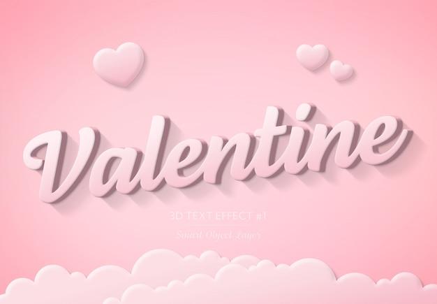 Valentine day text effect Premium Psd