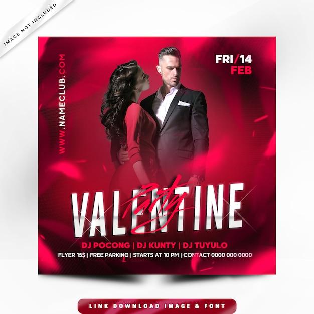 Valentine flyer premium Premium Psd