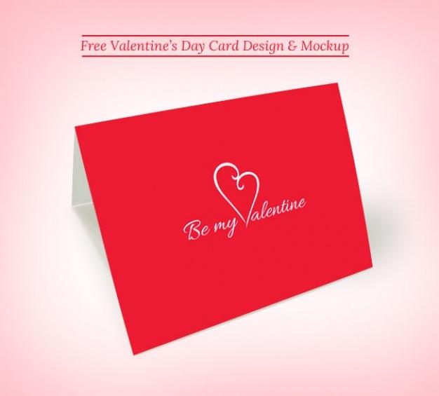 Valentine Greeting Card Mockup Psd File Free Download