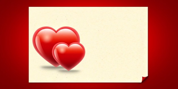 Valentine Hearts Card Template Psd File Free Download