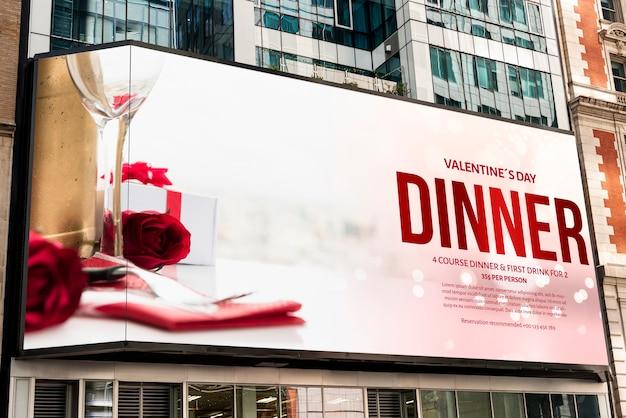 Valentine's day billboard mock-up Free Psd