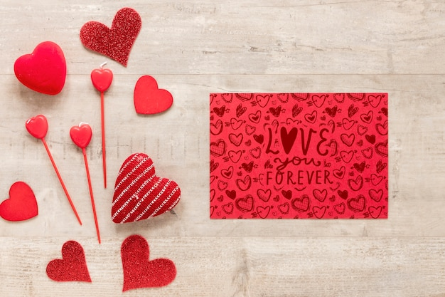 Valentine's day concept mock-up Free Psd