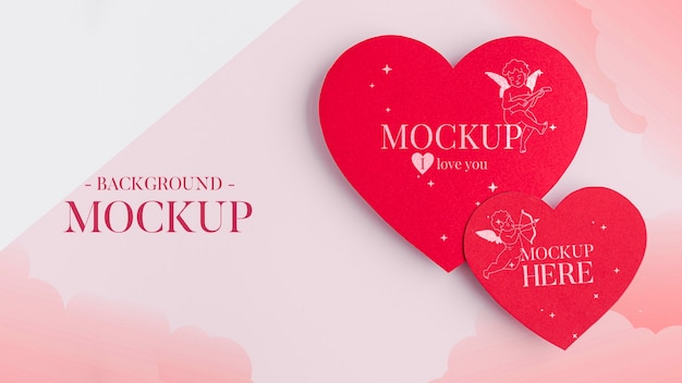 Mock-up di concetto di san valentino Psd Gratuite