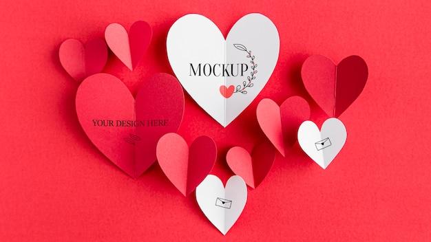 バレンタインデーのコンセプトのモックアップ 無料 Psd