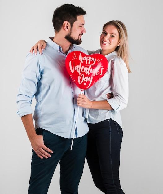 Modello di concetto delle coppie di san valentino Psd Gratuite