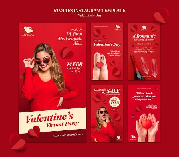 Storie di instagram di san valentino Psd Gratuite