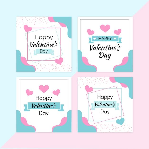 Valentine sale banner set Premium Psd