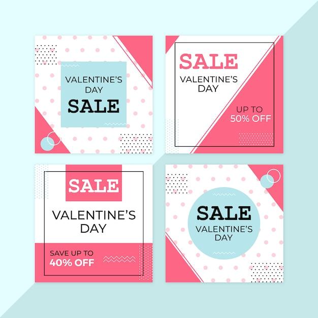 Valentine sale banners Premium Psd