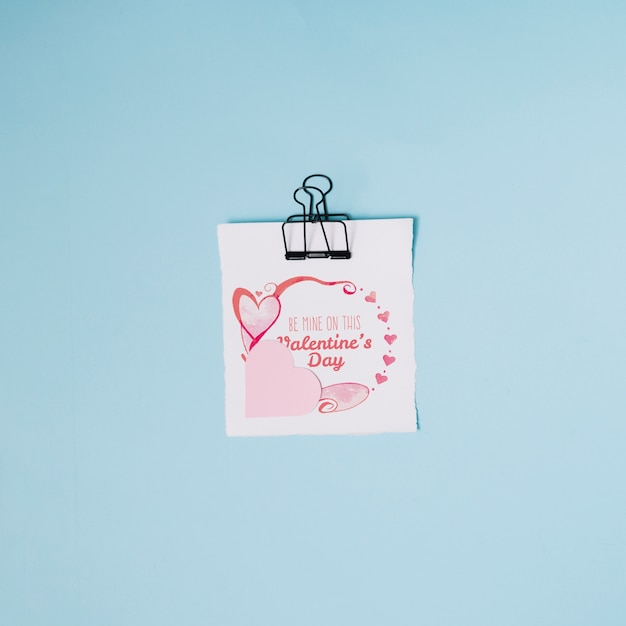 Valentines Card Mockup With Decorative Composition Psd File Free