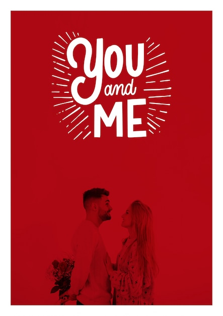 Valentines day poster mockup Free Psd