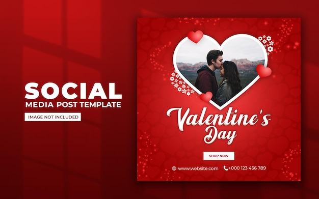 Valentines day social media and instagram post template Premium Psd