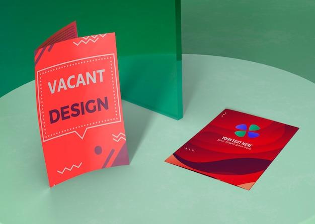 브랜드 회사 비즈니스 모형 용지를위한 다양한 디자인 무료 PSD 파일