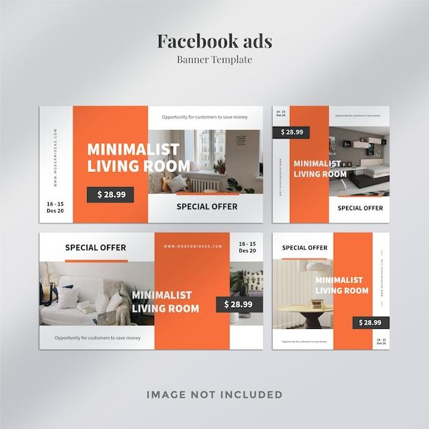 さまざまなfacebook広告テンプレート Premium Psd