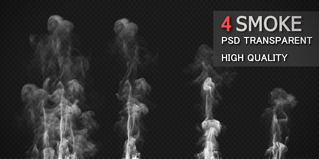 Various fire smoke styles pack isolated Premium Psd
