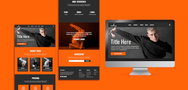 Various web and printable templates with screen Free Psd