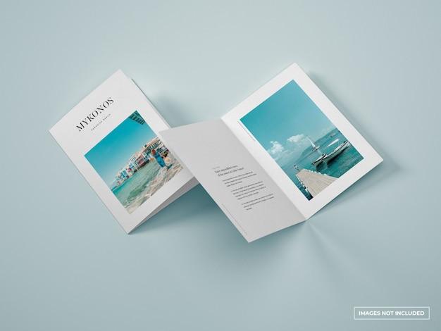Vertical bifold brochure mockup Premium Psd