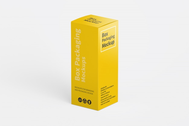 Vertical box packaging mockup
