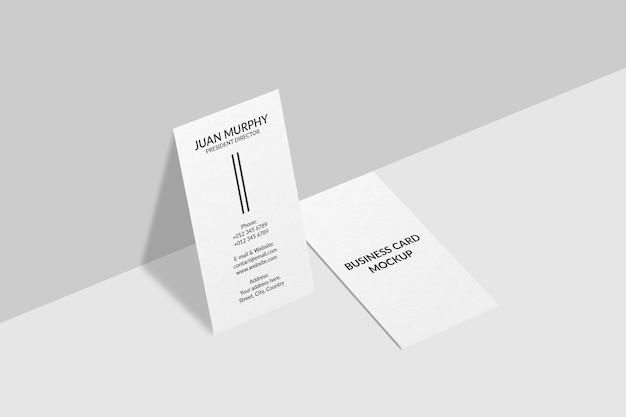 수직 명함 모형 디자인 프리미엄 PSD 파일