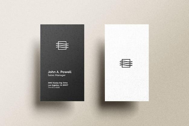 Вертикальный макет визитки Бесплатные Psd