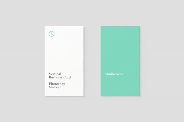 Вертикальный макет визитки Premium Psd