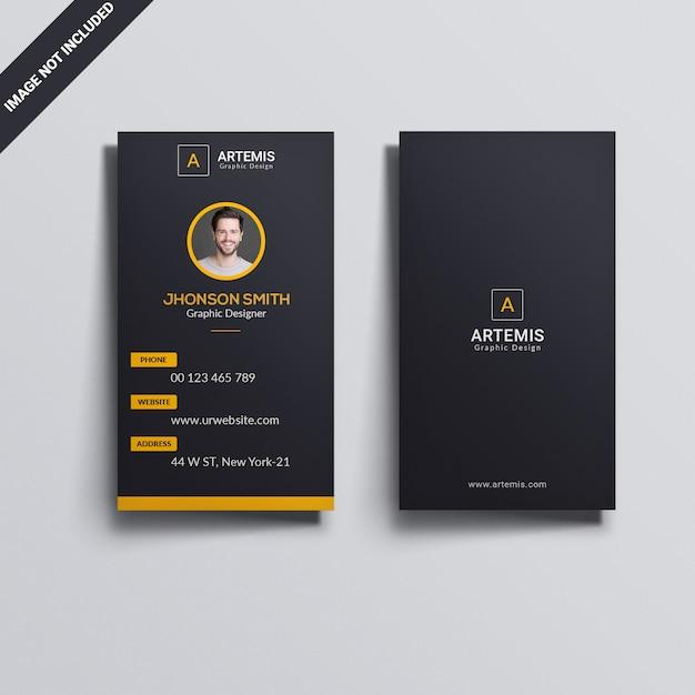Vertical business card Premium Psd