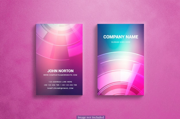 Vertical business cards mockup Free Psd