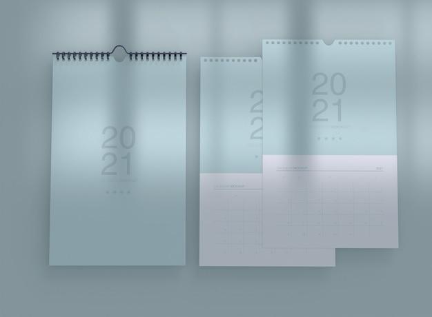 Mockup di calendario verticale Psd Gratuite