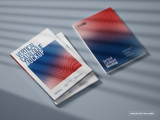 수직 카탈로그 및 잡지 표지 이랑 프리미엄 PSD 파일