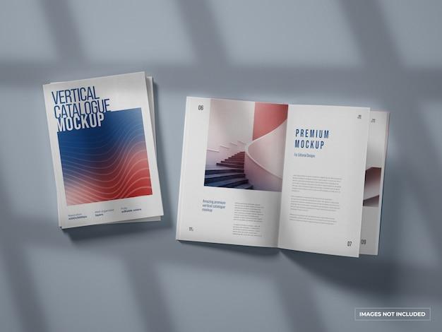 수직 카탈로그 및 잡지 모형 프리미엄 PSD 파일