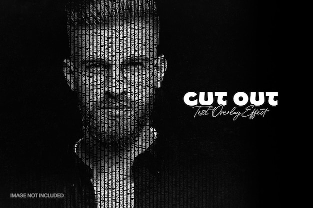 Vertical cut out text photo effect