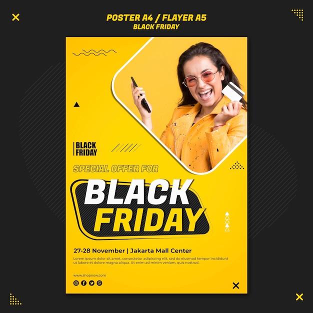 Volantino verticale per la vendita del venerdì nero Psd Gratuite
