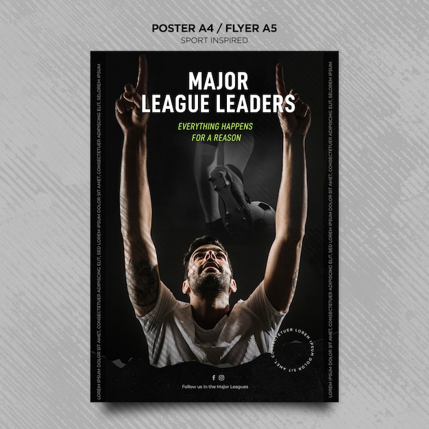 Vertical flyer for football club Free Psd