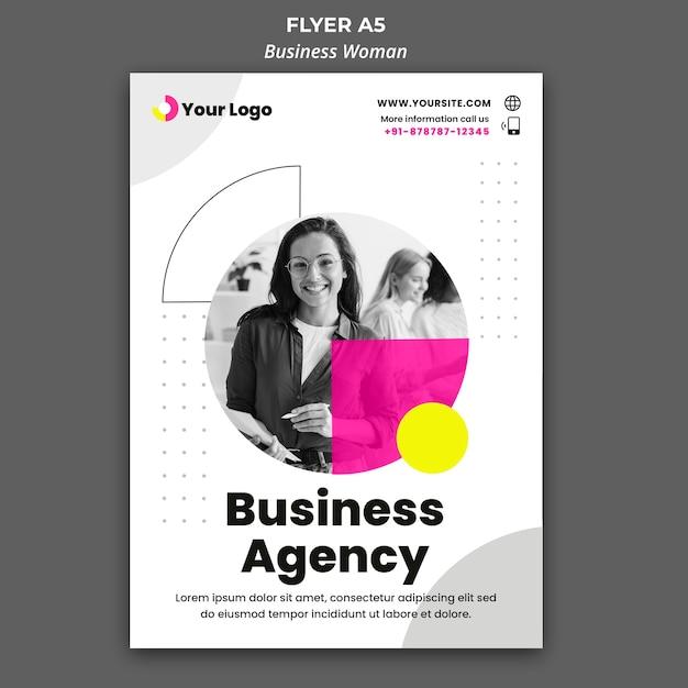 Вертикальный флаер для бизнес-леди Бесплатные Psd