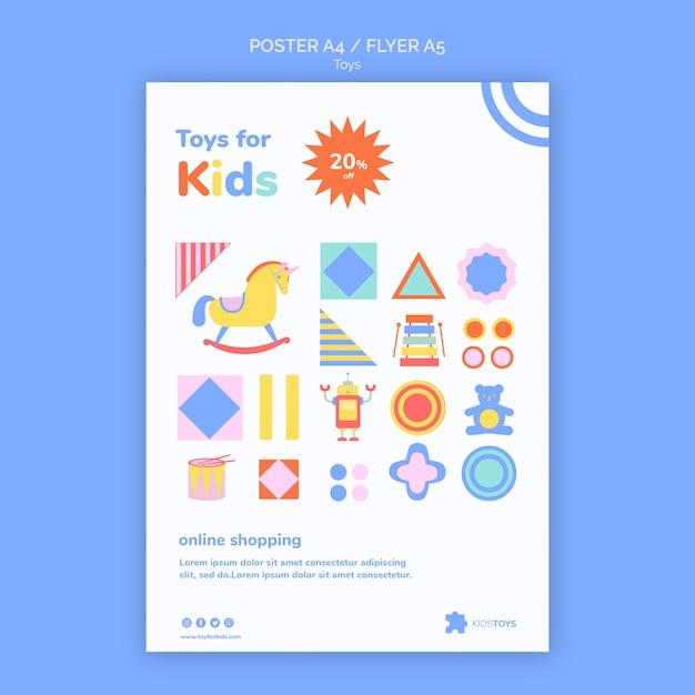 Вертикальный флаер для детских игрушек интернет-магазины Бесплатные Psd