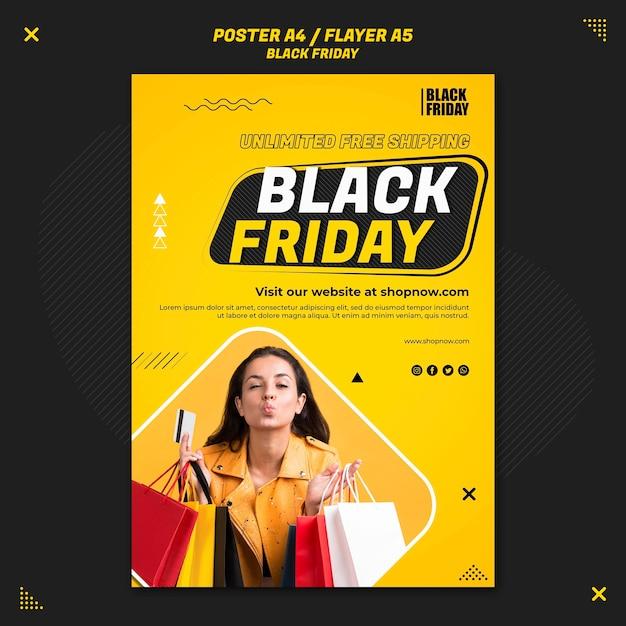 Modello di volantino verticale per la vendita del venerdì nero Psd Gratuite