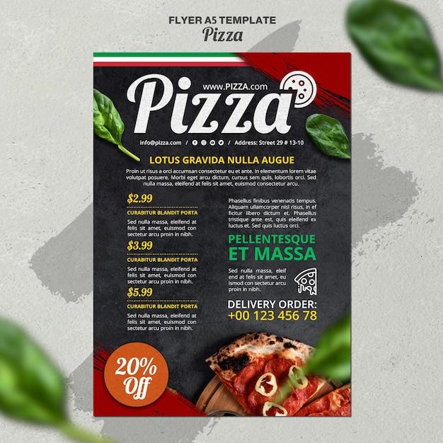 Вертикальный шаблон флаера для итальянского пиццерии Бесплатные Psd