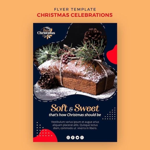 Modello di volantino verticale per dolci natalizi tradizionali Psd Gratuite