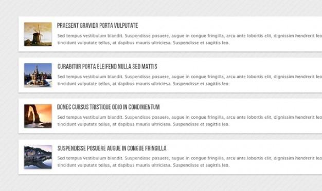 Вертикальная карусель новостей html Бесплатные Psd