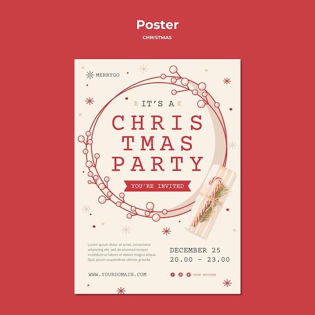 クリスマスセール用縦型ポスター 無料 Psd