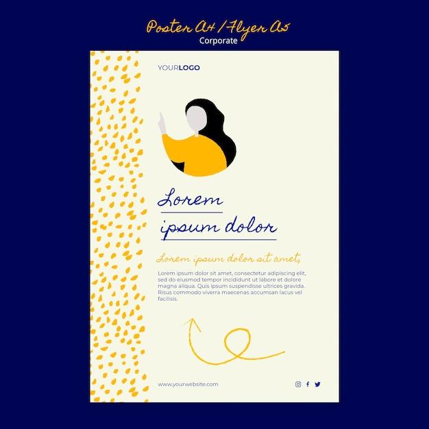 기업 비즈니스를위한 세로 포스터 무료 PSD 파일